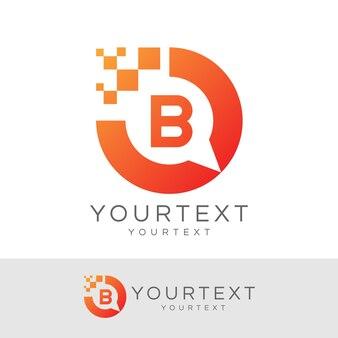 Consultant numérique initial lettre b logo design