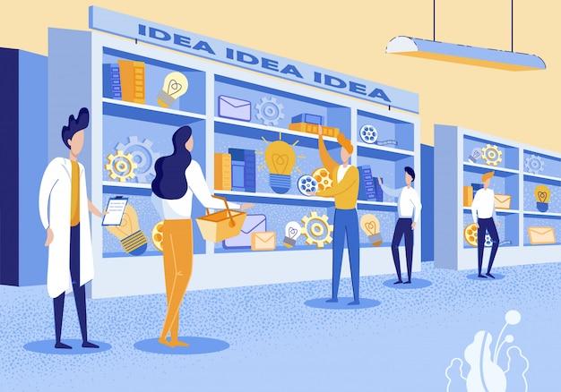 Consultation de flyer informative sur les idées d'achat.