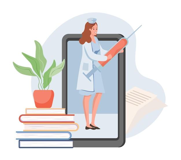 Consultation en ligne sur l'enseignement à distance de la médecine vaccinale