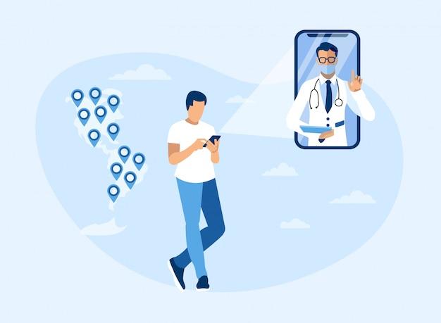 Consultation en ligne de médecins à travers les amériques