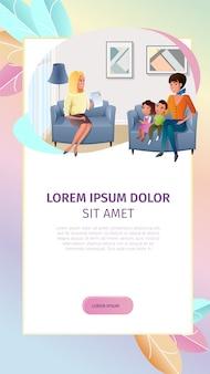 Consultation en ligne psychologue vector bannière web