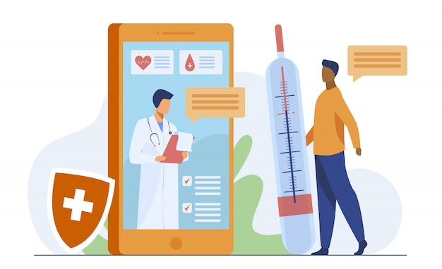 Consultation de médecin en ligne via smartphone