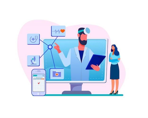 Consultation d'un médecin en ligne