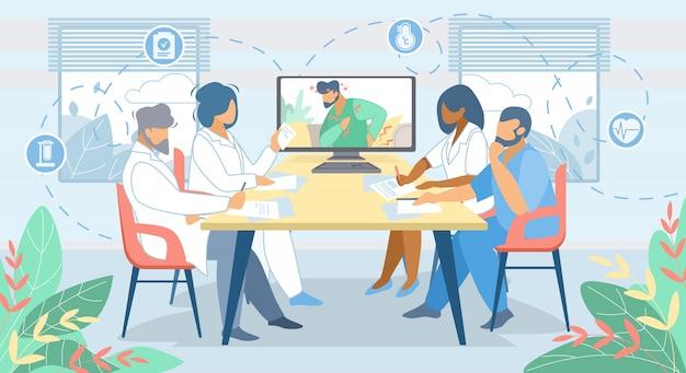 Consultation de médecine en ligne à distance. les technologies