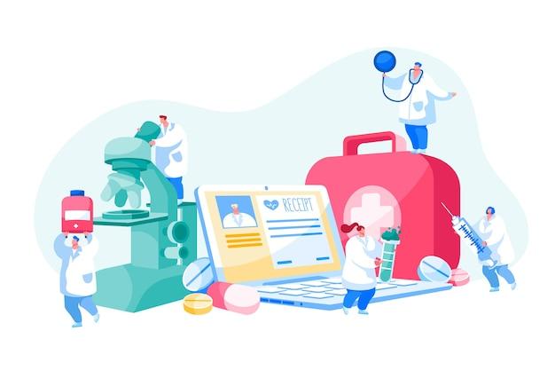 Consultation de médecine en ligne à distance