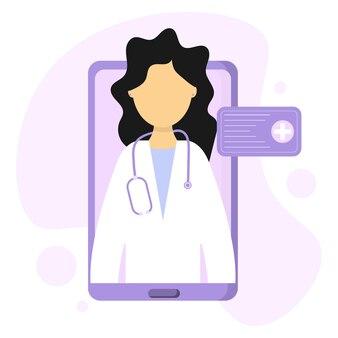 Consultation de médecins en lignesoins médicaux à distance