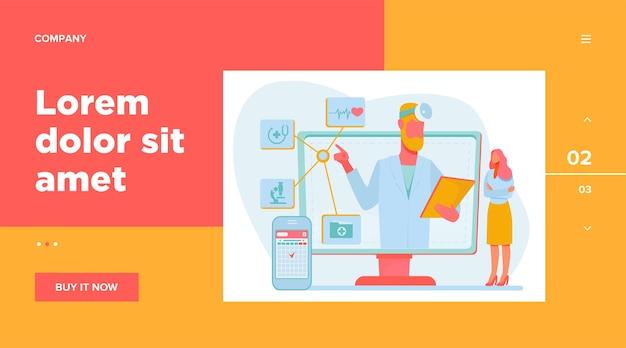 Consultation médicale en ligne.