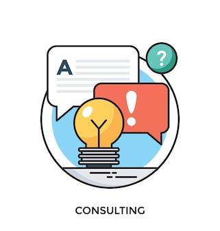 Consultation plate vector icon