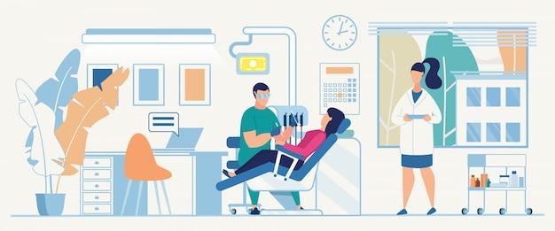 Consultation de service orthodontique diagnostic médical