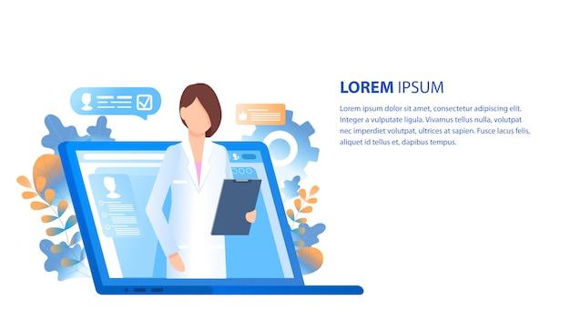 Consultation et soutien en ligne des médecins