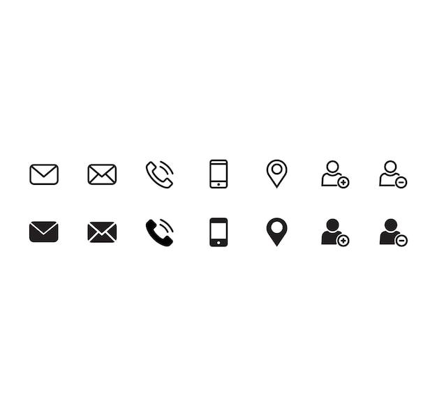 Contact jeu d'icônes