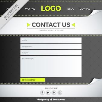 Contactez format email fond