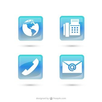 Contactez icône vecteur paquet