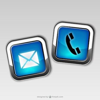 Contactez icônes