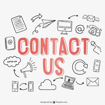 Contactez lettrage vecteur