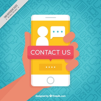 Contactez mobile background