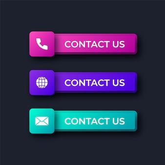 Contactez-nous boutons