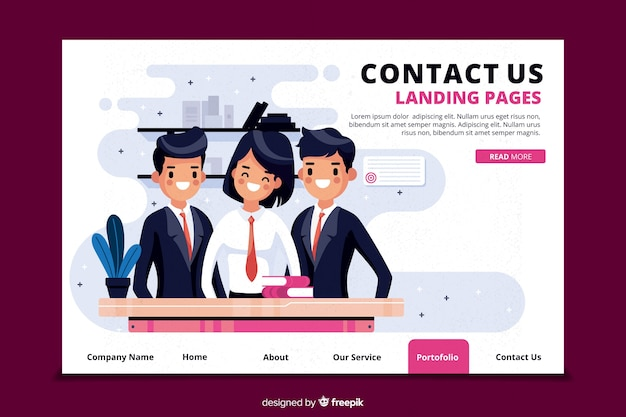 Contactez-nous concept pour landing page