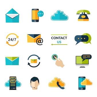 Contactez-nous ensemble d'icônes