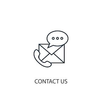 Contactez-nous icône de ligne de concept. illustration d'élément simple. contactez-nous conception de symbole de contour de concept. peut être utilisé pour l'interface utilisateur/ux web et mobile