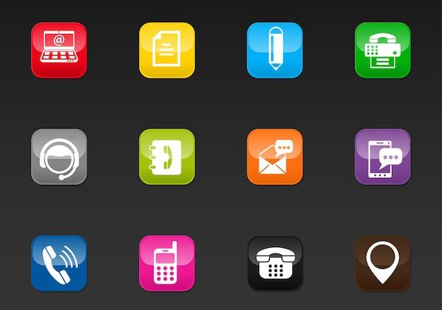 Contactez-nous icônes web professionnelles pour votre conception