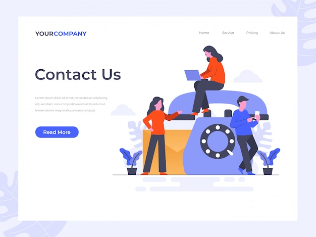 Contactez-nous landing page
