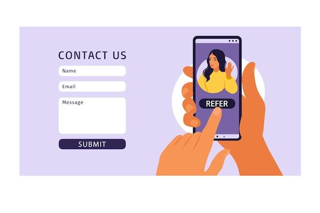 Contactez-nous modèle de formulaire pour le web