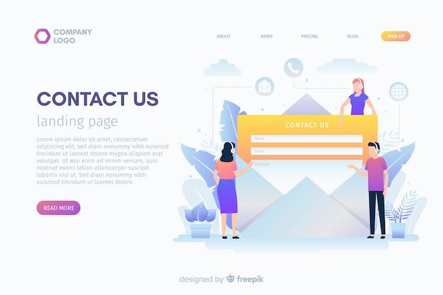 Contactez-nous modèle de page de destination
