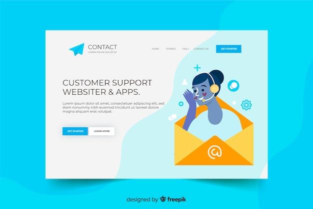 Contactez-nous page de destination avec le support client