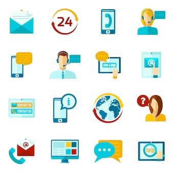 Contactez-nous set d'icônes