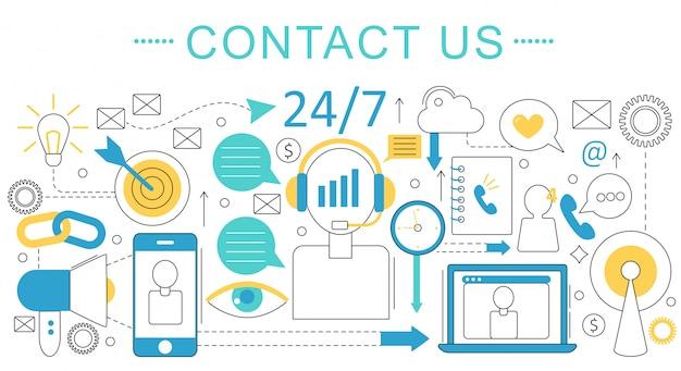 Contactez-nous support concept