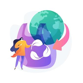 Contamination environnementale. idée de protection de la planète. pollution plastique, sac de cellophane, utilisation de matériaux biodégradables. consommation responsable.