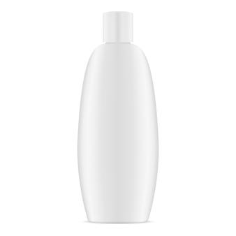 Conteneur cosmétique ovale en plastique blanc