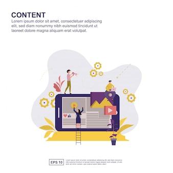 Contenu design plat vector illustration design.