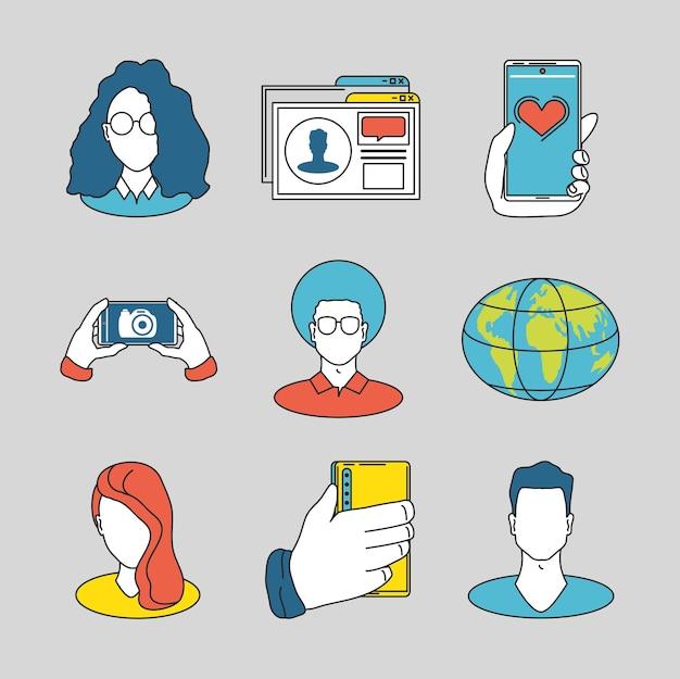 Contenu du monde de l'avatar des médias sociaux