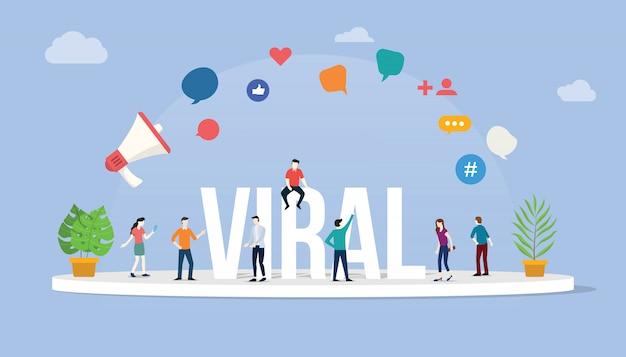 Contenu d'informations virales sur les médias sociaux