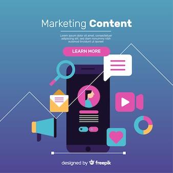 Contenu plat de contenu marketing