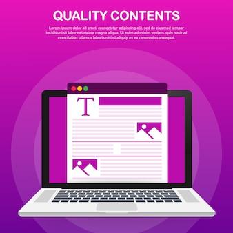Contenu pour le modèle de publication de blog créatif