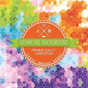 Contexte abstrait, design géométrique, illustration vectorielle. tesselation géométrique de la surface colorée. style de vitraux. flou de couleur abstrait.