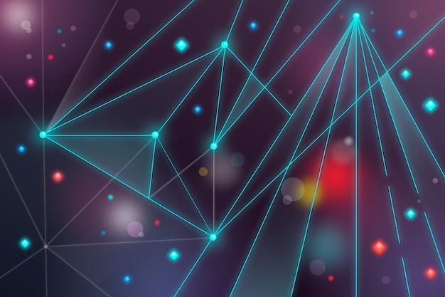Contexte abstrait particule de technologie réaliste