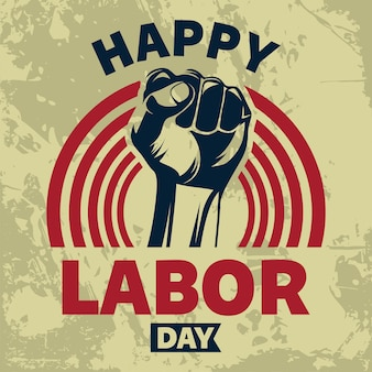Contexte américain happy labor day