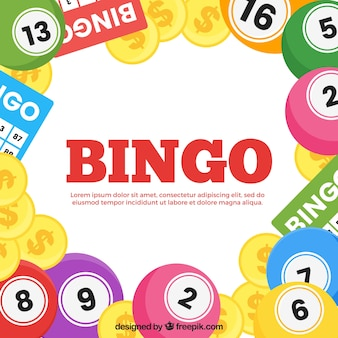 Contexte des balles et des pièces de bingo