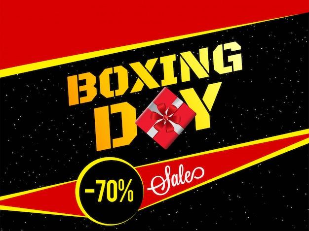 Contexte de boxing day.