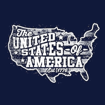 Contexte carte américaine