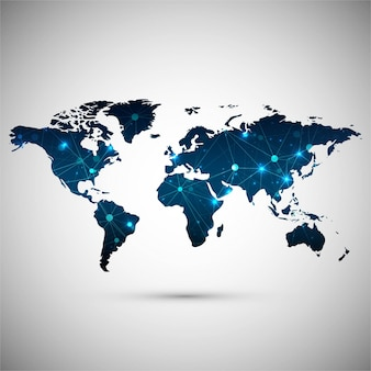 Contexte de la carte du monde moderne