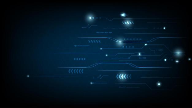 Contexte de conception de circuits de haute technologie. innovation conceptuelle. illustration vectorielle.