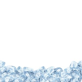 Contexte avec la conception de la glace