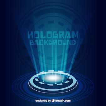 Contexte avec la conception d'hologramme