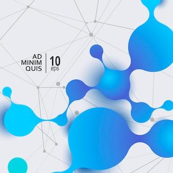 Contexte de conception de recherche scientifique polygonale. illustration vectorielle abstraite moderne futuriste.