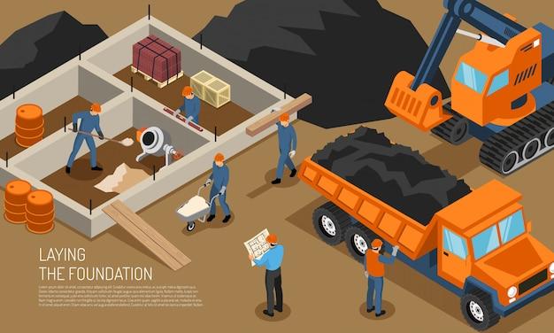Contexte de construction de site de construction